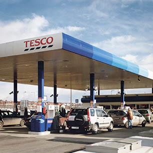 Tesco üzemanyagtöltő állomások